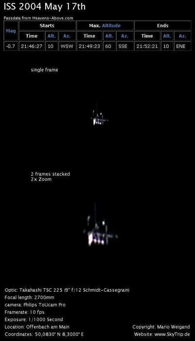 The International Space Station on May 17th 2004