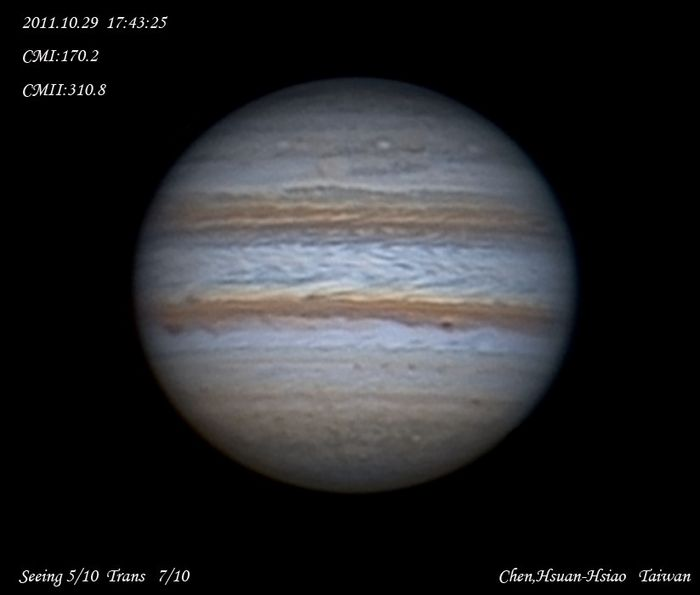 Jupiter Opposition  2011.10.29 UT
